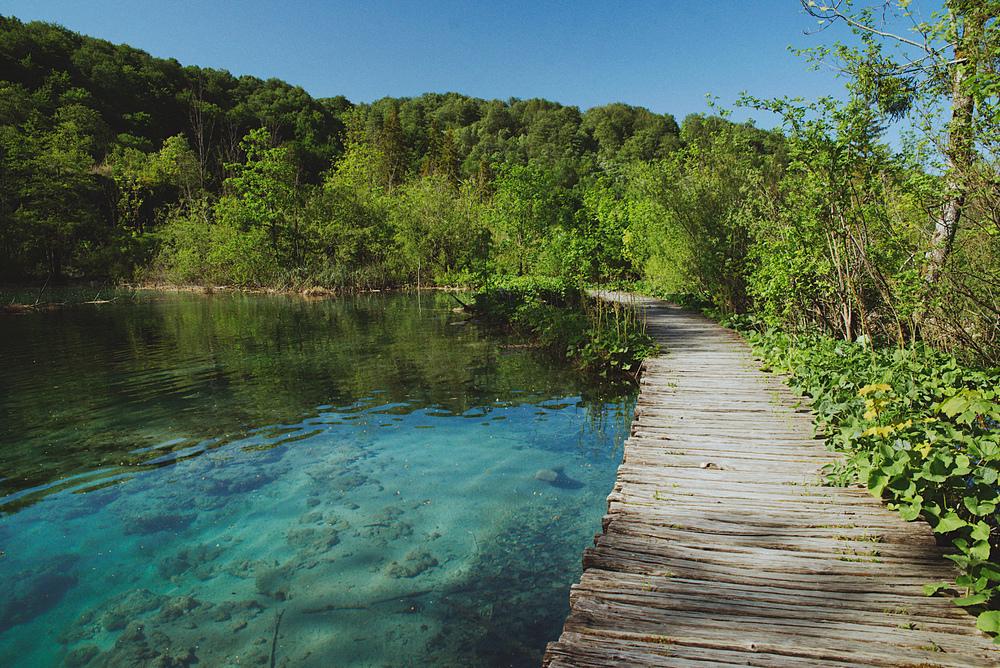 Пустые Плитвицкие озёра весной 2020